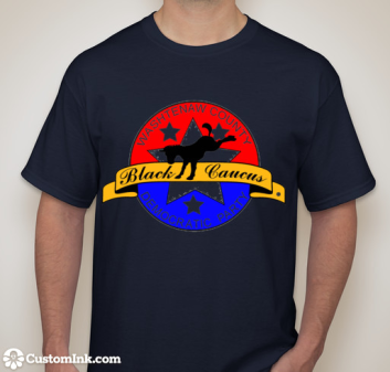 WCDP Black Caucus Tee Shirt~Front